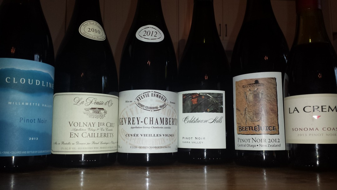 Pinot Noir Tasting Line Up