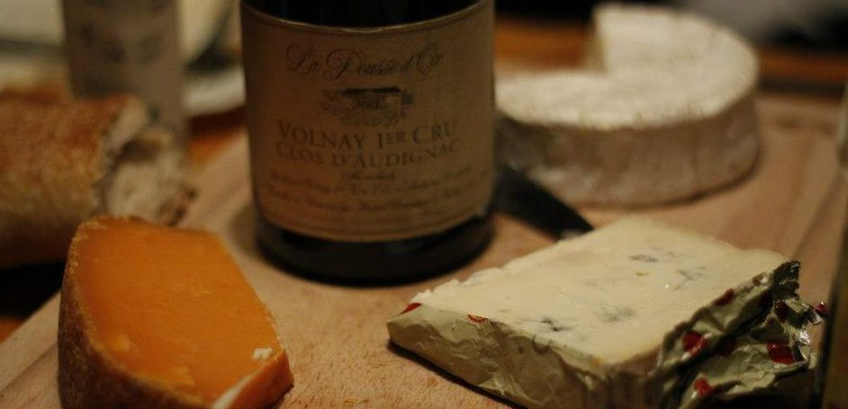 Pousse dOr Volnay and cheese