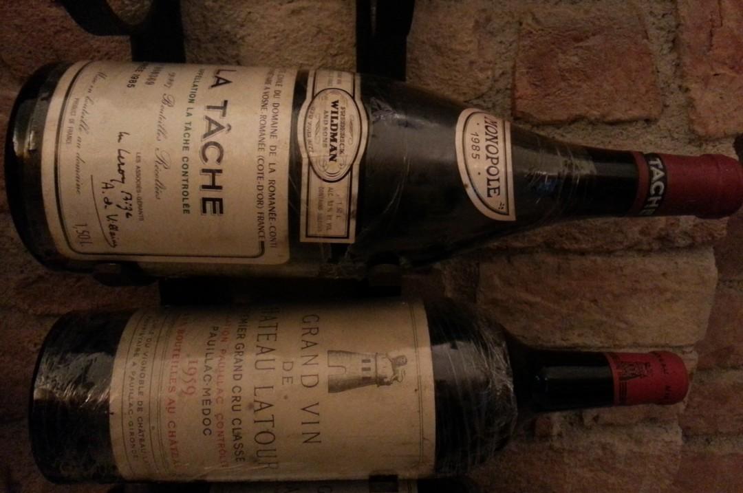 La Tache and Latour Wines