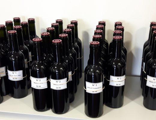 Pomerol wine blending