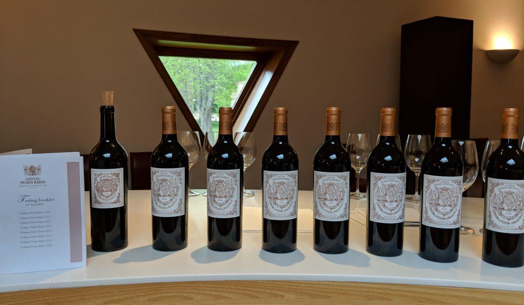 Pichon Baron Wine Tasting