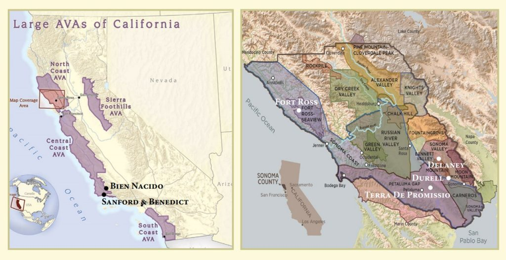 Russian River Valley Map