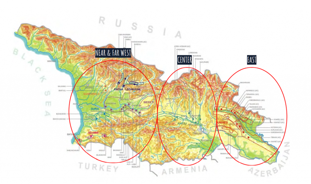 Georgian Wine Map