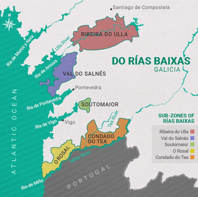 Rías Baixas Vineyards Map