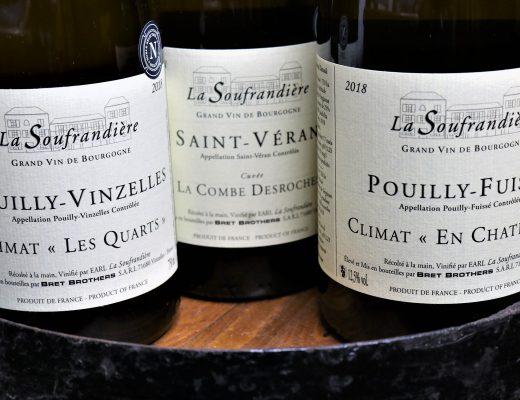 wines of domaine la Soufrandière